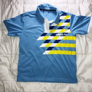 Adidas Shortsleeved Blue Golf Shirt Size small